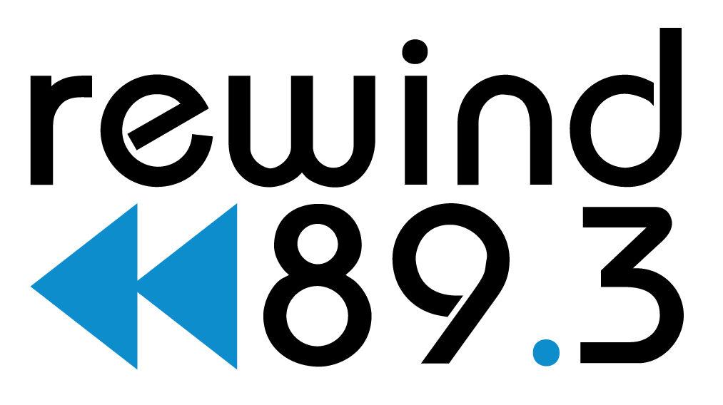 89.3 Rewind logo
